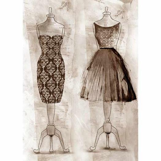 Ριζόχαρτο Napkin Silhouette Stamperia A4, Haute Couture