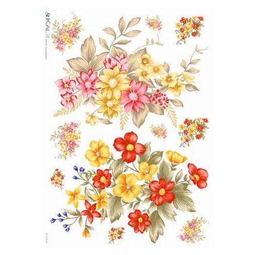 Ριζόχαρτο KALIT για Decoupage 32x45cm, FLOWERS_0144