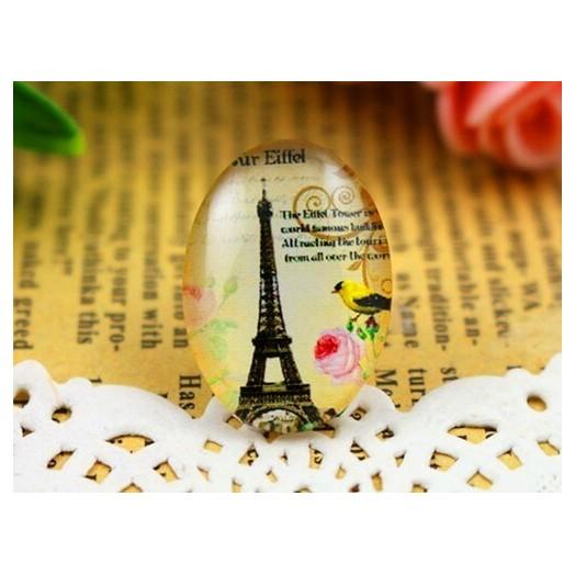 Γυαλάκια Photo Glass 18x25mm Eiffel - 4 τεμ