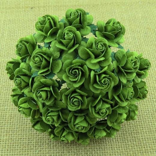 Λουλούδια MINT GREEN ROSES, 20mm