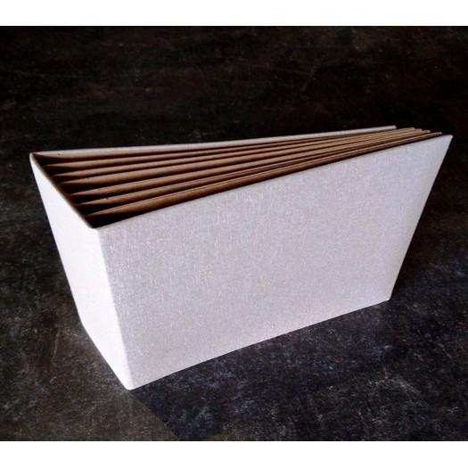 Άλμπουμ με ράχη και υφασμάτινη επένδυση, 16,2x21,2cm light grey - brown