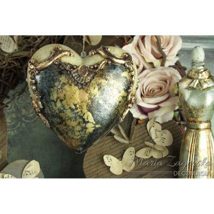Καρδιά διάφανη Plexiglass 10 cm
