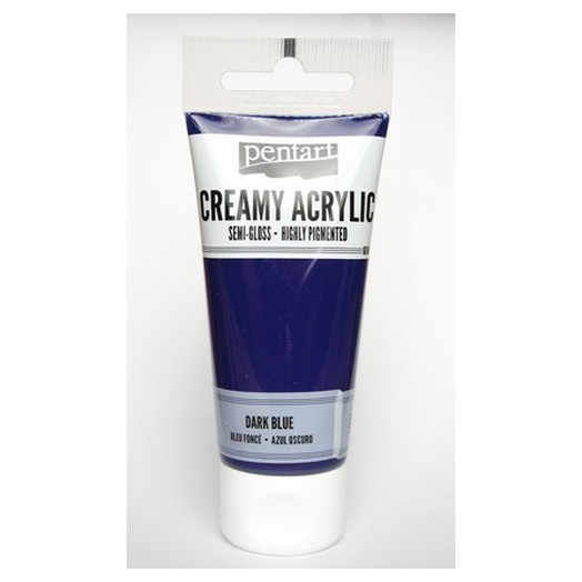 Χρώμα ακρυλικό Creamy Semi-Gloss 60ml Pentart - Dark Blue