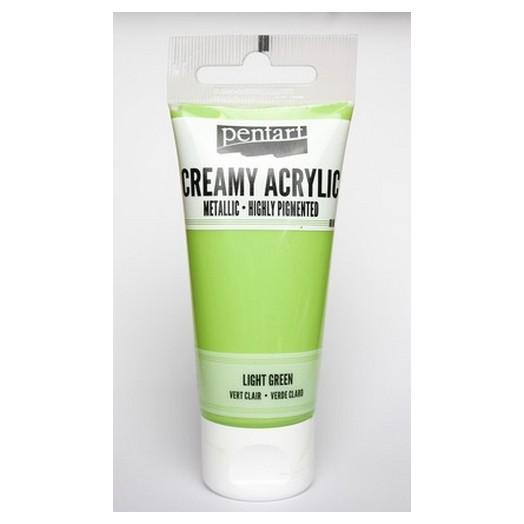 Χρώμα ακρυλικό Creamy 60ml Pentart - Metallic Light Green