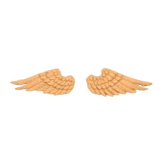 Ξυλόγλυπτα φτερά μίνι ζευγάρι 6x2,5cm