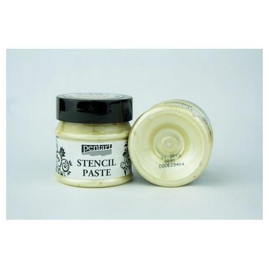 Stencil Paste Pearl Pentart 50ml - Vanilla