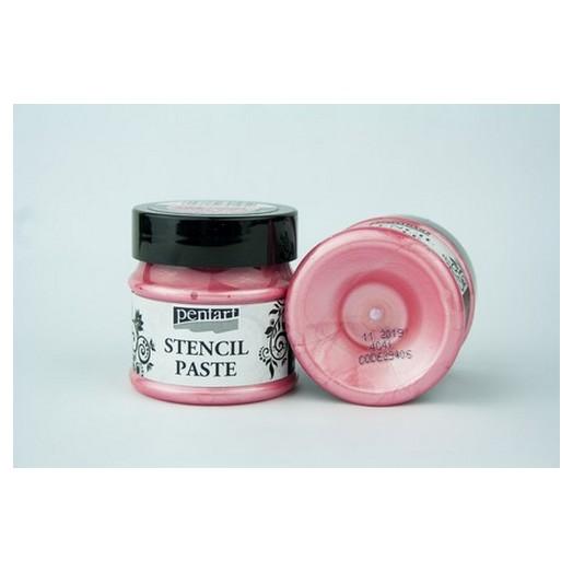 Stencil Paste Pearl Pentart 50ml - Hollyhock