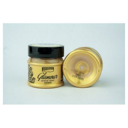 Glamour acrylic paint metallic 50ml Pentart - Rich Gold