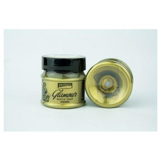 Glamour acrylic paint metallic 50ml Pentart - Antique Gold