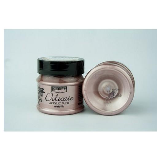 Delicate acrylic paint metallic 50ml Pentart - Rose Gold