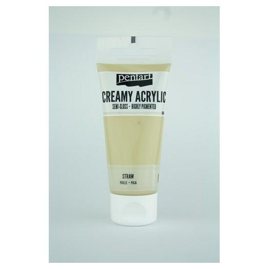 Χρώμα ακρυλικό Creamy Semi-Gloss 60ml Pentart - Straw
