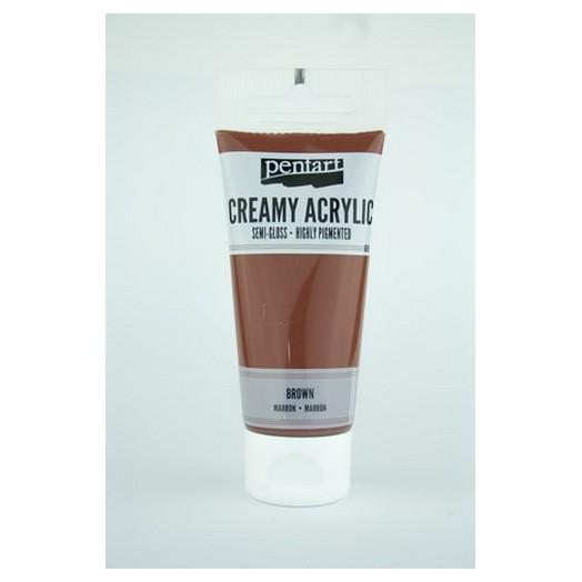 Χρώμα ακρυλικό Creamy Semi-Gloss 60ml Pentart - Brown