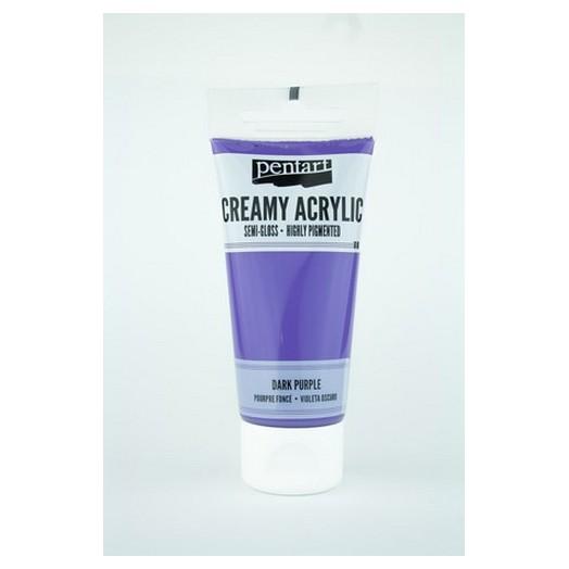 Χρώμα ακρυλικό Creamy Semi-Gloss 60ml Pentart - Dark Purple