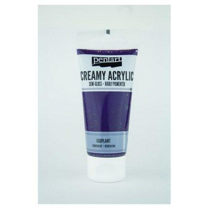 Χρώμα ακρυλικό Creamy Semi-Gloss 60ml Pentart - Eggplant