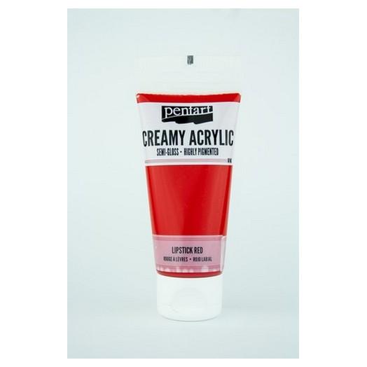 Χρώμα ακρυλικό Creamy Semi-Gloss 60ml Pentart - Lipstick Red