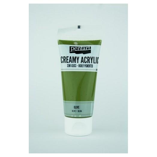 Χρώμα ακρυλικό Creamy Semi-Gloss 60ml Pentart - Olive