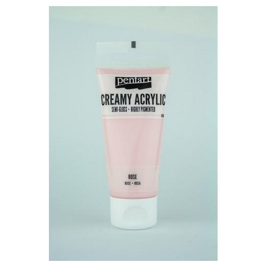 Χρώμα ακρυλικό Creamy Semi-Gloss 60ml Pentart - Rose