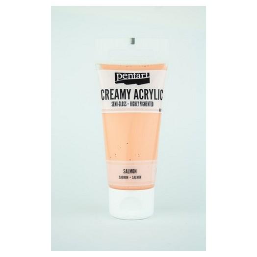 Χρώμα ακρυλικό Creamy Semi-Gloss 60ml Pentart - Salmon