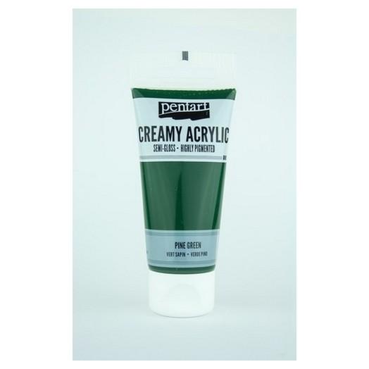 Χρώμα ακρυλικό Creamy Semi-Gloss 60ml Pentart - Pine green
