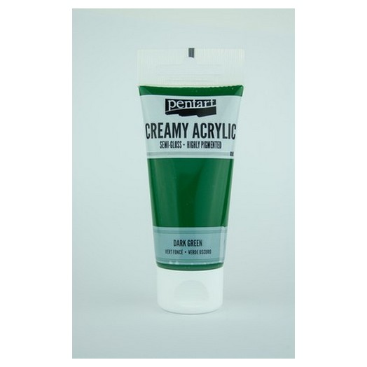 Χρώμα ακρυλικό Creamy Semi-Gloss 60ml Pentart - Dark Green