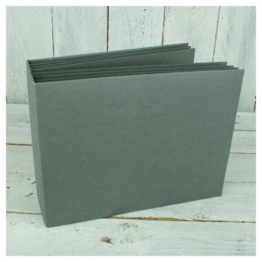 Άλμπουμ με ράχη και υφασμάτινη επένδυση, 16,2x21,2cm, grey