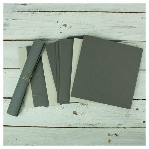 Κιτ για δημιουργία άλμπουμ, grey craft, 16,2x16,5cm