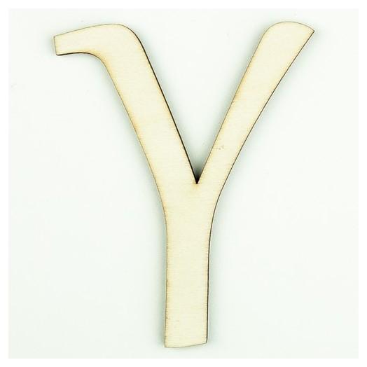 Ξύλινο γράμμα 9cm, πάχος 5mm, Υ