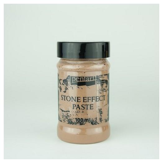 Stone effect Paste (εφέ πέτρας) Pentart 100ml - Brown granite