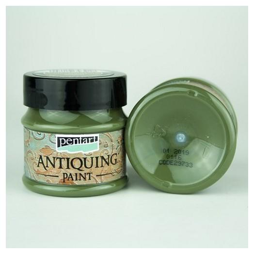 Antiquing Paint Pentart 50ml - Cream Green
