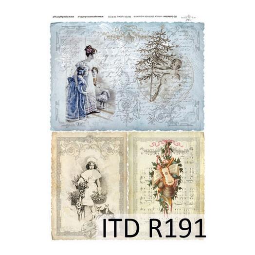Ριζόχαρτο ITD Χριστουγεννιάτικο, 21x29cm