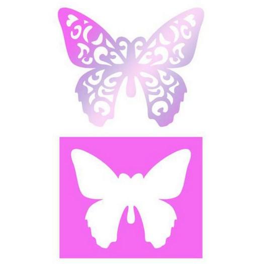 Stencil Butterfly 2τεμ ,25x21cm Stamperia