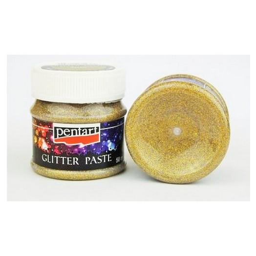 Glitter Paste Pentart 50ml - Gold medium