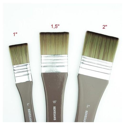 Πινέλο Renesans, Gray Line, Flat/Wide,  No 1'