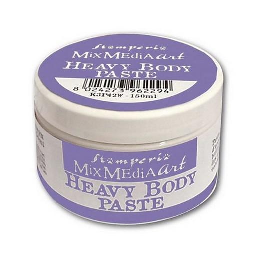 Heavy body paste 150ml White , Stamperia