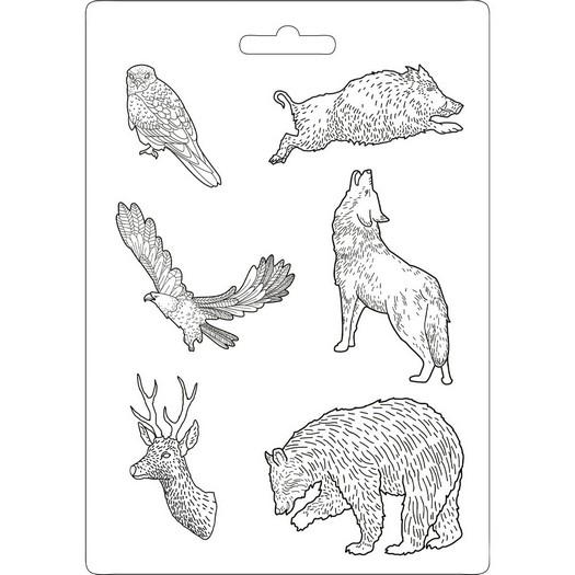 Καλούπι εύκαμπτο A4, 21x29cm, Stamperia, Forest Animal power