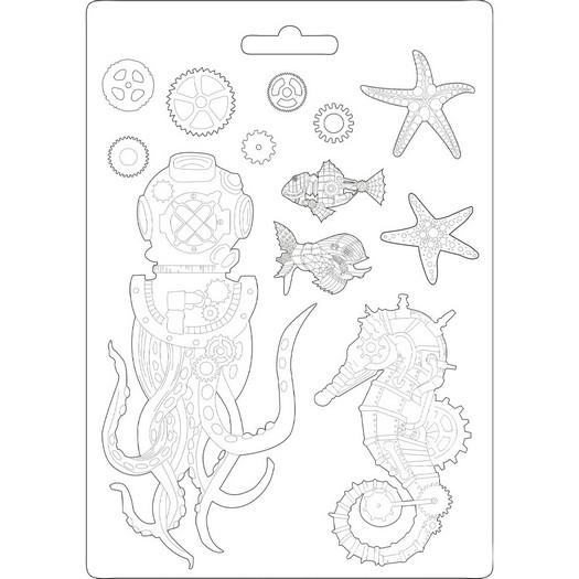 Καλούπι εύκαμπτο A4, 21x29cm, Stamperia, Sea World