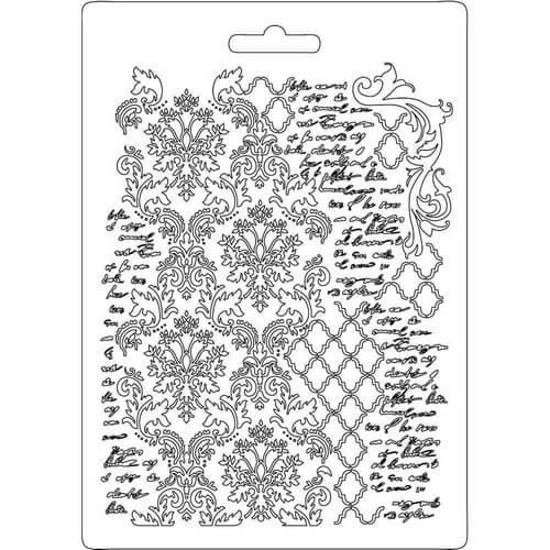 Καλούπι εύκαμπτο A5,15x21cm, Stamperia, Texture with scripture