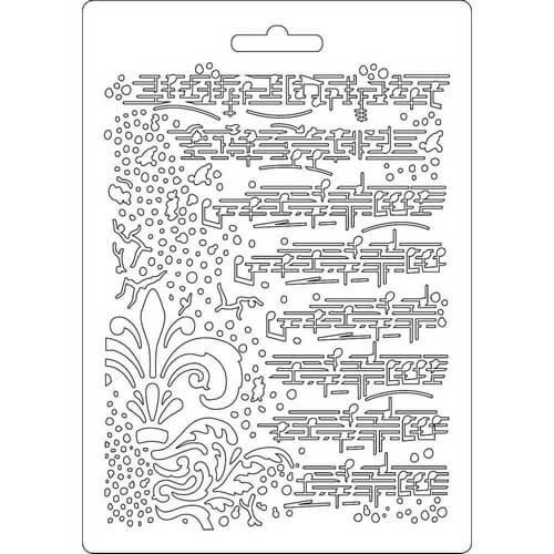 Καλούπι εύκαμπτο A5, 15x21cm, Stamperia, Music