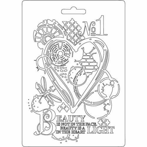 Καλούπι εύκαμπτο A5, 15x21cm, Stamperia, Heart