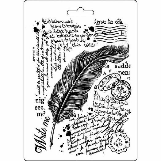 Καλούπι εύκαμπτο A5, 15x21cm, Stamperia, Feather