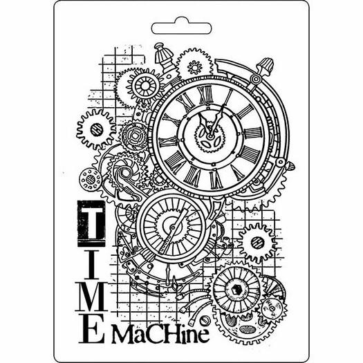 Καλούπι εύκαμπτο A5, 15x21cm, Stamperia, Time Machine