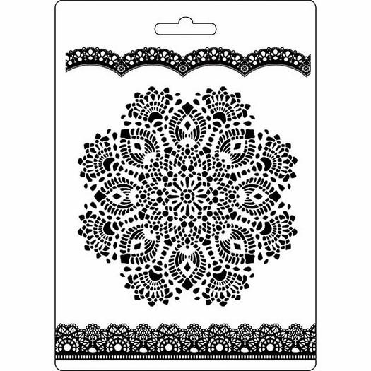 Καλούπι εύκαμπτο A5, 15x21cm, Stamperia, Doily Pattern