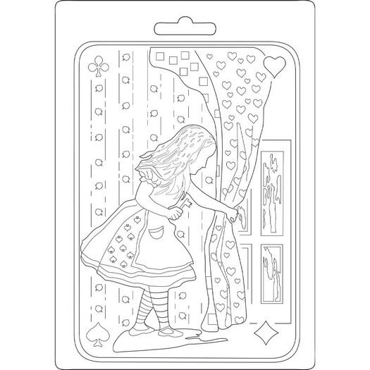 Καλούπι εύκαμπτο A5, 15x21cm, Stamperia, Alice