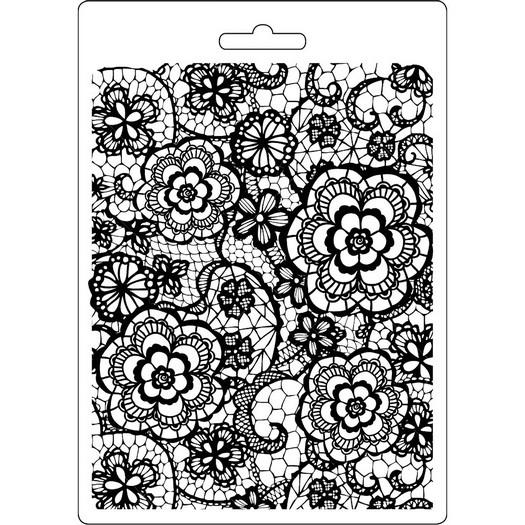 Καλούπι εύκαμπτο A5, 15x21cm, Stamperia, Flowered Texture