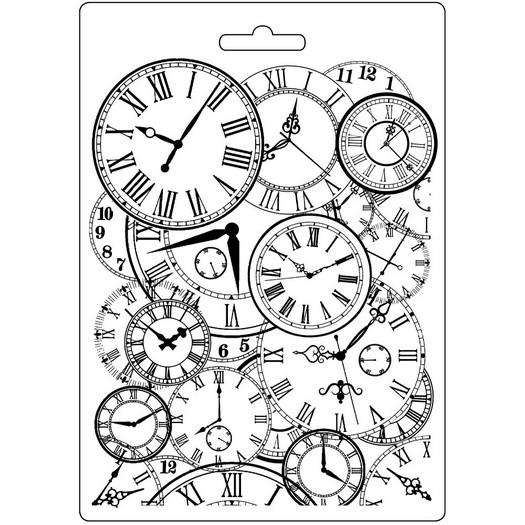 Καλούπι εύκαμπτο A5, 15x21cm, Stamperia, Clock