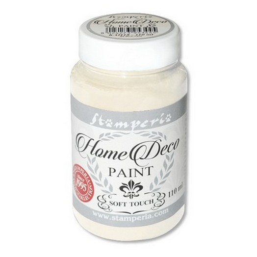 Home Deco Soft Paint 110ml Stamperia - White