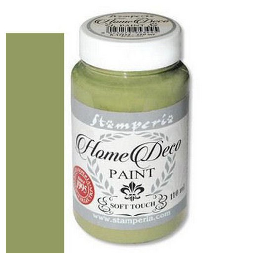 Home Deco Soft Paint 110ml Stamperia - Olive green