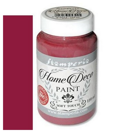 Home Deco Soft Paint 110ml Stamperia - Burgundy