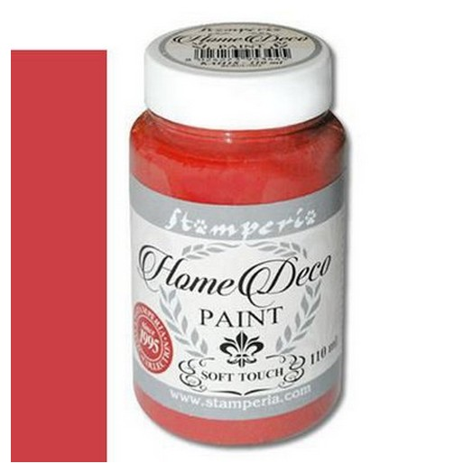 Home Deco Soft Paint 110ml Stamperia - Warm red