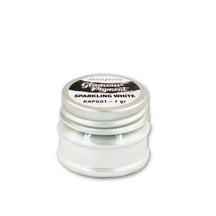 Glamour powder pigment 7gr, Stamperia, Sparkling white